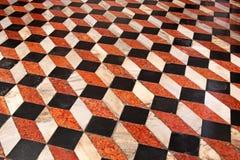 Mattonelle del cubo del pavimento Immagini Stock