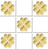 mattonelle del modello dell'oro fotografia stock