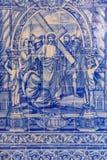 Mattonelle del Portoghese di Azulejos Fotografie Stock