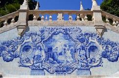 Mattonelle dell'annata di azulejo di scena di annuncio Fotografie Stock