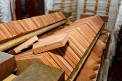 Mattonelle dell'argilla Fotografie Stock