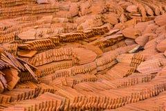 Mattonelle dell'argilla di Brown Fotografie Stock Libere da Diritti