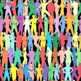 Mattonelle della gente illustrazione vettoriale