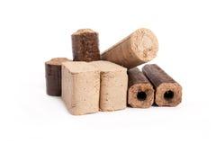 Mattonelle della legna da ardere, fondo bianco, Fotografie Stock