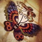 Mattonelle delle farfalle fotografia stock