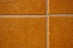 Mattonelle di ceramica di terracotta Fotografia Stock