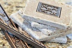 Mattonelle di ceramica e bordi Immagine Stock