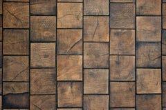 Mattonelle di legno Immagini Stock