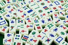 Mattonelle di Mahjong Fotografia Stock