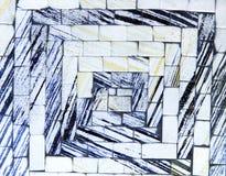 Mattonelle di marmo fotografie stock