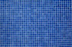 Mattonelle di mosaico blu Fotografia Stock