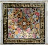 Mattonelle di mosaico di Gaudi - Barcellona, Spagna Immagine Stock
