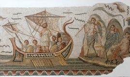 Mattonelle di mosaico romane antiche Fotografia Stock Libera da Diritti