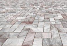 Mattonelle di pavimento di marmo pavimentate Fotografie Stock
