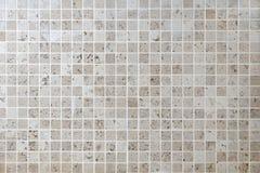 Mattonelle di pietra naturali della parete del quadrato del mosaico Fotografie Stock Libere da Diritti
