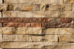 Mattonelle di pietra naturali per le pareti Immagini Stock