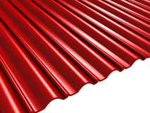 Mattonelle di Red Roof su fondo bianco Fotografia Stock Libera da Diritti