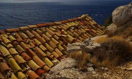 Mattonelle di tetto 08 Fotografia Stock