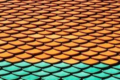 Mattonelle di tetto Fotografia Stock Libera da Diritti