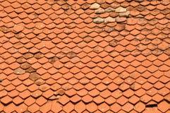 Mattonelle di tetto Fotografie Stock