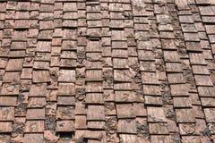 Mattonelle di tetto antiche di terracotta, Italia Fotografia Stock Libera da Diritti