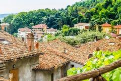 Mattonelle di tetto in campagna di Romagna in Italia Immagini Stock Libere da Diritti