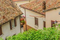 Mattonelle di tetto in campagna di Romagna in Italia Fotografia Stock Libera da Diritti