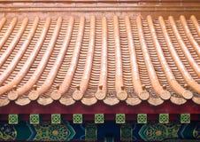 Mattonelle di tetto cinesi Fotografia Stock Libera da Diritti