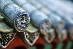Mattonelle di tetto cinesi Fotografie Stock Libere da Diritti