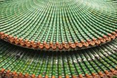 Mattonelle di tetto cinesi della pagoda fotografie stock libere da diritti