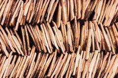 Mattonelle di tetto da terraglie Fotografia Stock