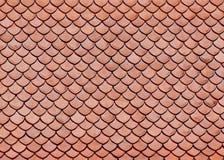 Mattonelle di tetto del tempiale buddista classico Immagine Stock