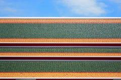 Mattonelle di tetto del tempio Fotografie Stock Libere da Diritti