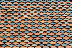 Mattonelle di tetto del tempio Immagini Stock