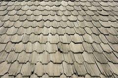 Mattonelle di tetto di legno Fotografia Stock Libera da Diritti