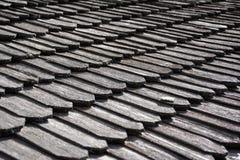 Mattonelle di tetto di legno tradizionali Immagine Stock Libera da Diritti
