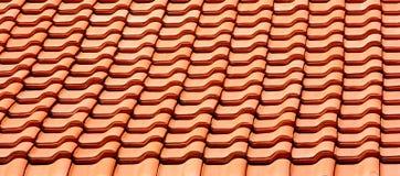 Mattonelle di tetto nella riga Immagine Stock