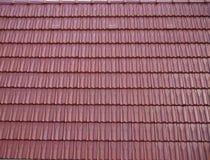 Mattonelle di tetto oblunghe rosse Fotografie Stock Libere da Diritti