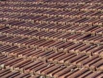 Mattonelle di tetto piastrellate Fotografie Stock Libere da Diritti