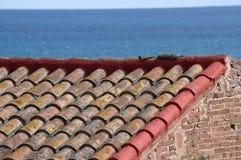 Mattonelle di tetto rosse immagine stock libera da diritti