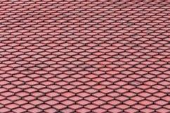 Mattonelle di tetto rosse Immagine Stock