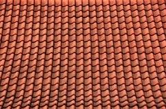 Mattonelle di tetto rosse del tempio Fotografia Stock