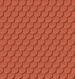 Mattonelle di tetto senza giunte dell'argilla Fotografie Stock