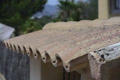 Mattonelle di tetto spagnole Immagine Stock