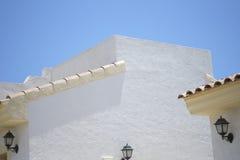 Mattonelle di tetto spagnole di terracotta Fotografie Stock Libere da Diritti