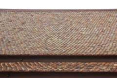 Mattonelle di tetto tailandesi di stile della casa su fondo bianco Fotografia Stock Libera da Diritti