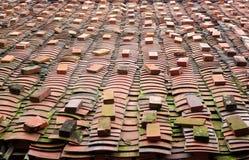 Mattonelle di tetto tradizionali cinesi fotografia stock libera da diritti