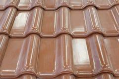Mattonelle di tetto verdi fotografia stock