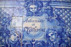 Mattonelle dipinte ad una cappella a Oporto, Portogallo - Capela das Almas da Santa Catarina Porto Immagine Stock