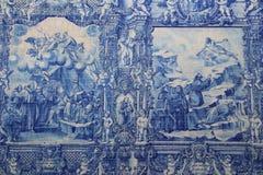Mattonelle dipinte a Capela das Almas da Santa Catarina Fotografia Stock